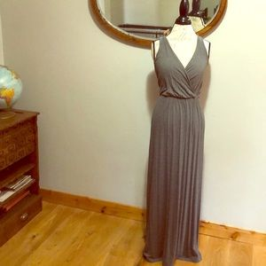 Athletic Gray Jersey Maxi Dress Size M